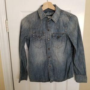 Madewell Broken-In Chambray Denim Shirt - XS